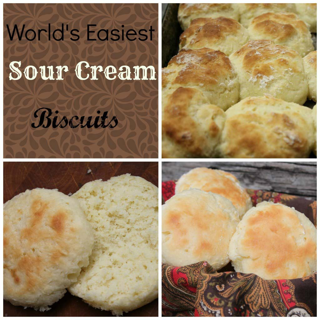 World's Easiest Sour Cream Biscuits {3 Ingredients}