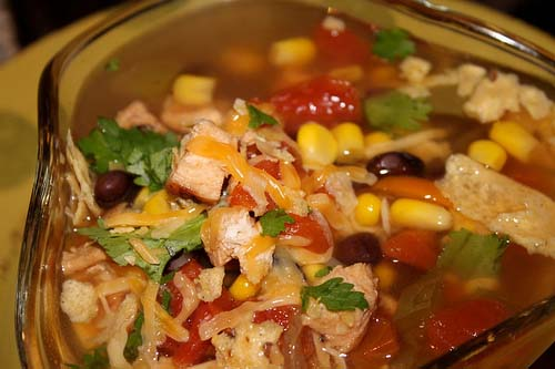 Crock Pot Chicken Fajita Soup