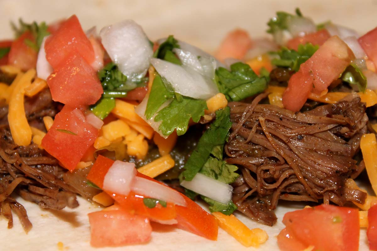 Crock pot Shredded Beef Fajitas