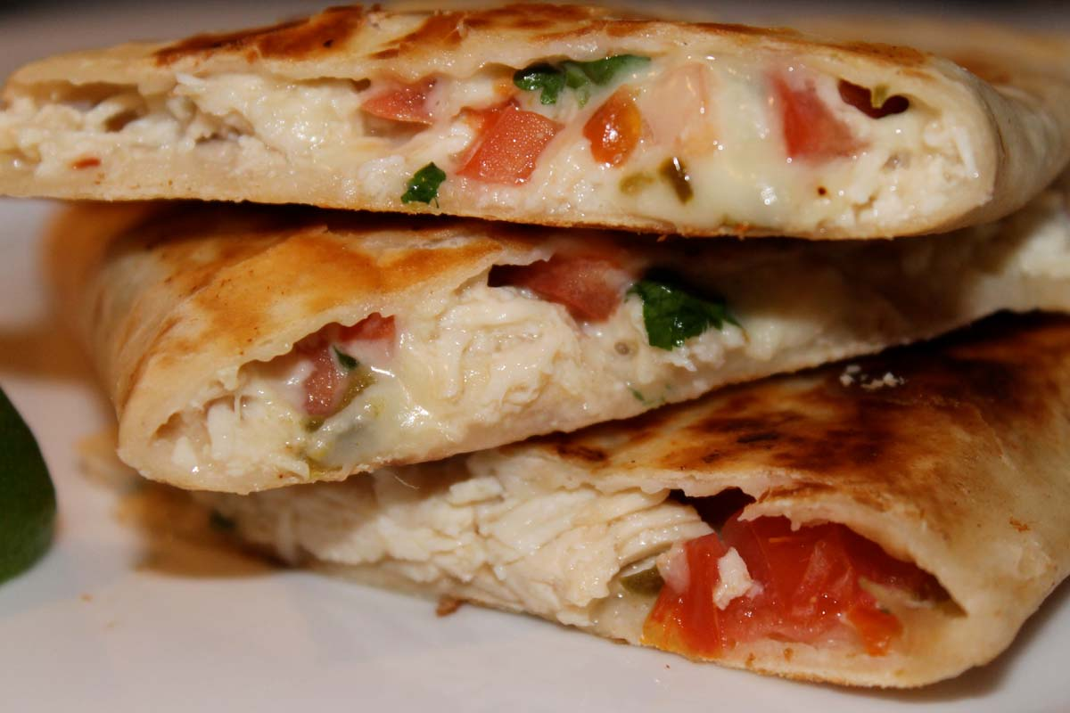 Chicken and Pepper Jack Quesadillas