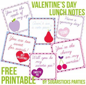Valentine's Day Lunch Note