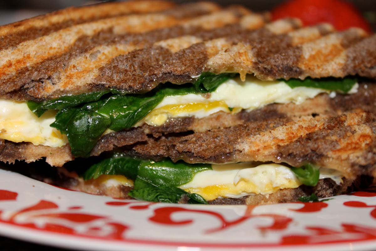 Power Sandwich with spinach