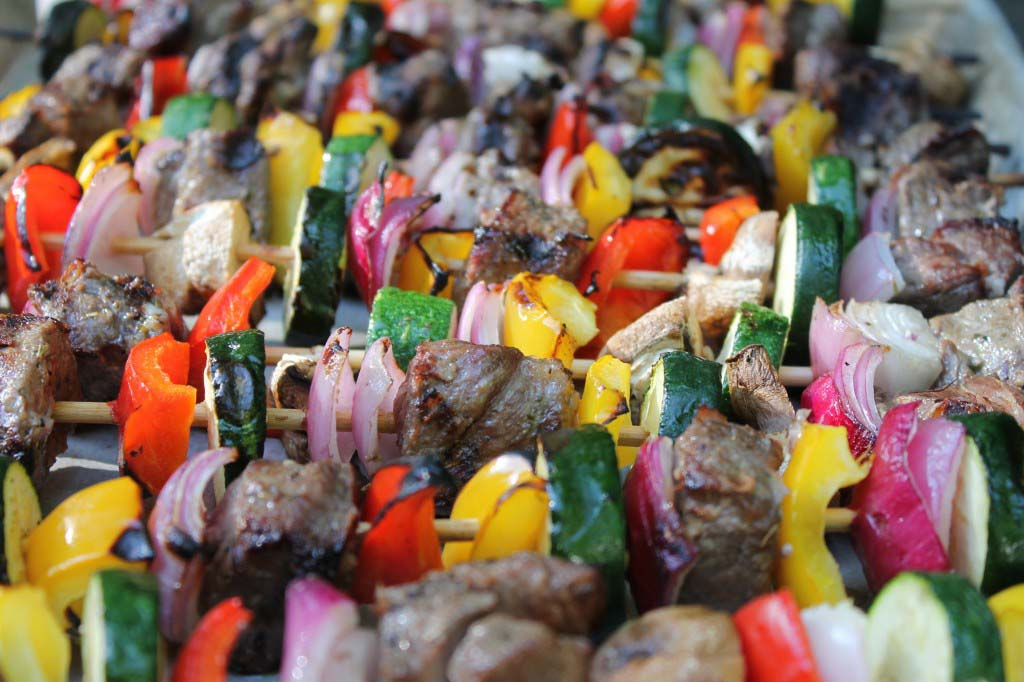 Asian honey steak kabob