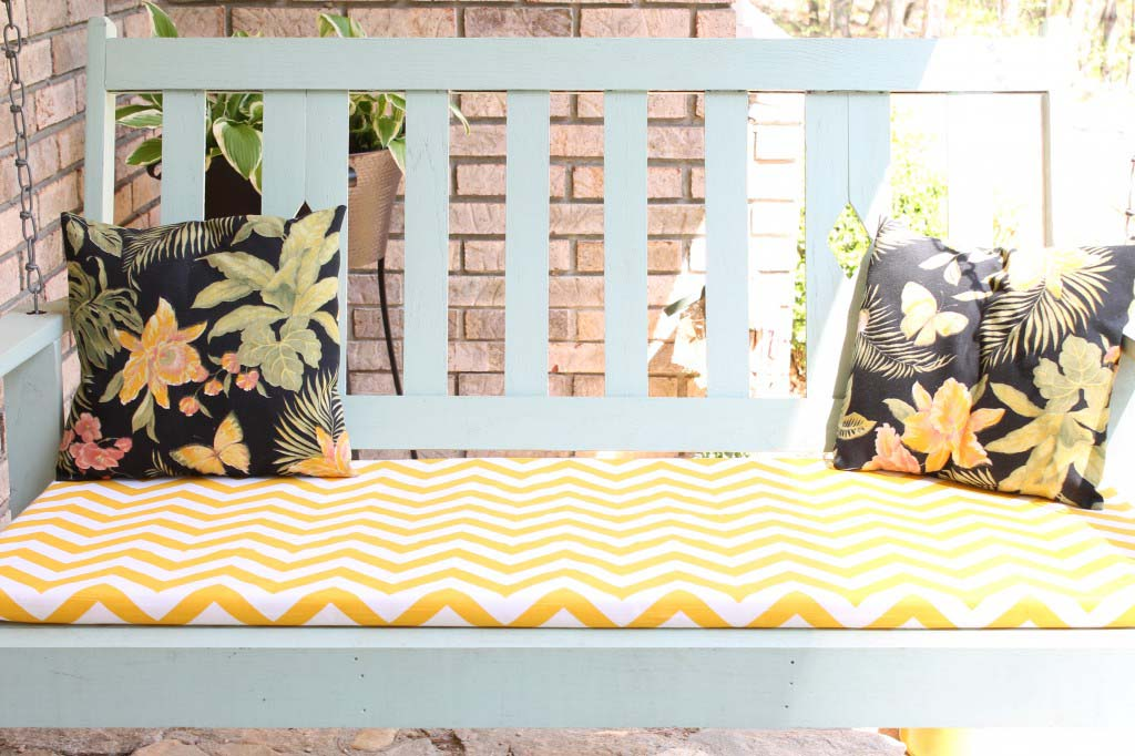 DIY No-Sew Swing or Chair Cushion
