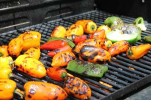 How to Roast Peppers on the Grill and Freeze