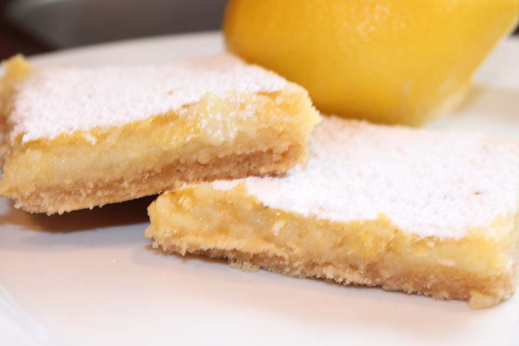 Healthier Lemon Pie Bars {freezer friendly}