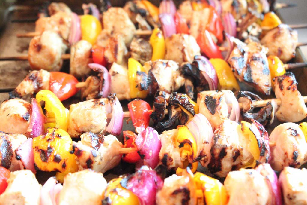 grilled asian honey chicken kabobs