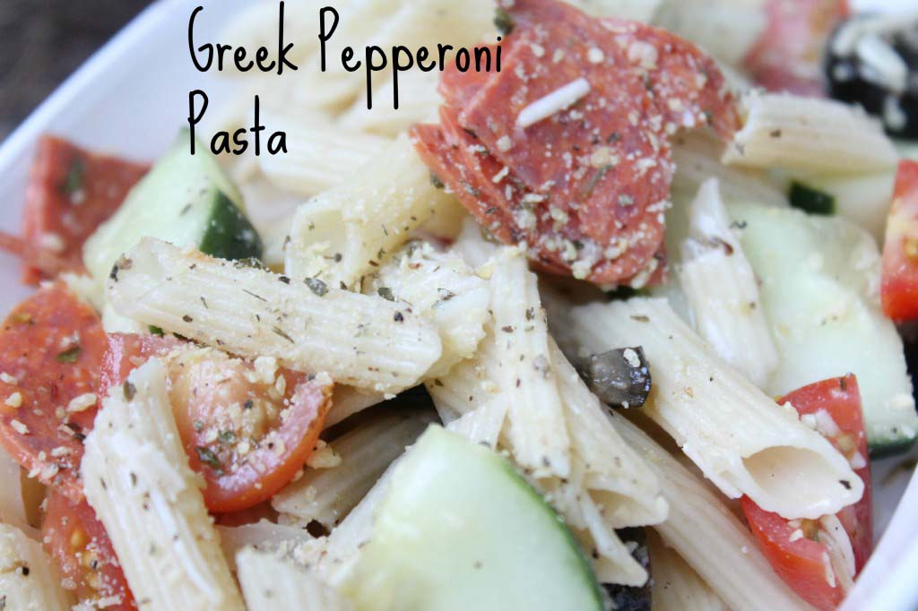 Greek Pepperoni Pasta