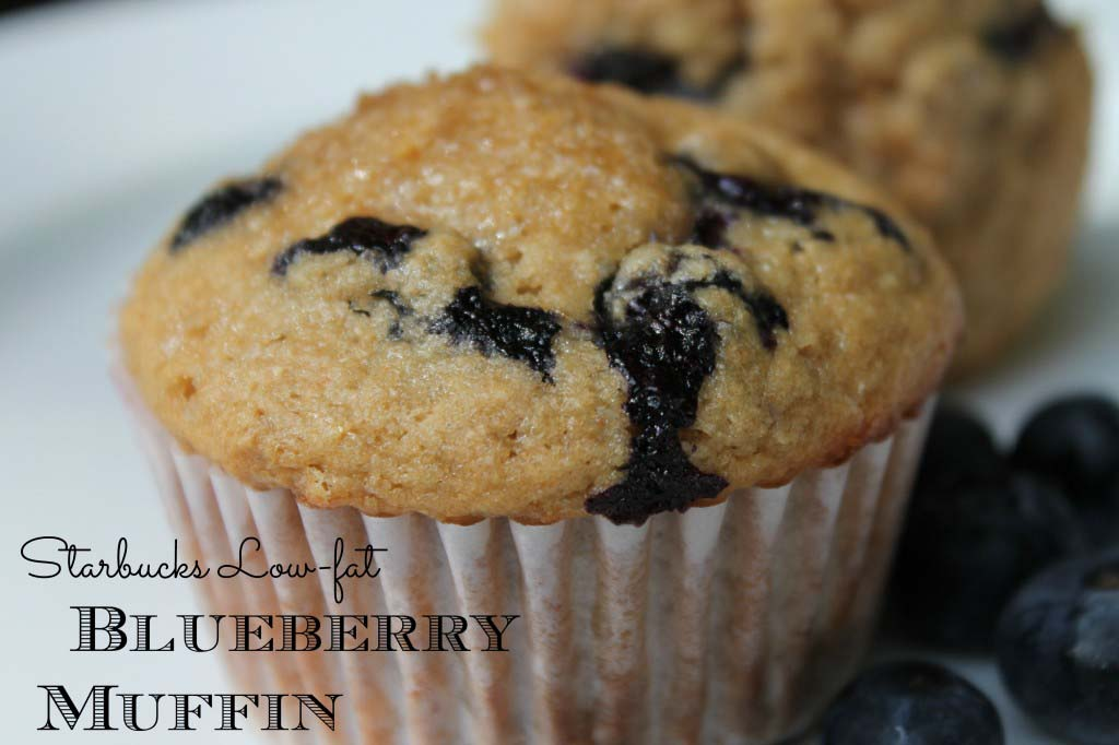 DIY Starbucks Low-Fat Blueberry Muffins {freezer friendly}