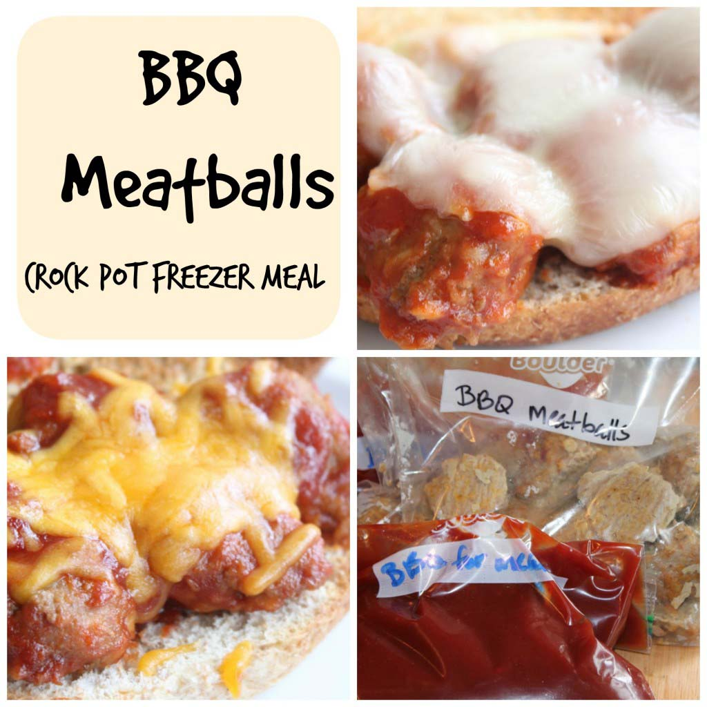 Crock Pot BBQ Meatballs {Freezer Meal}
