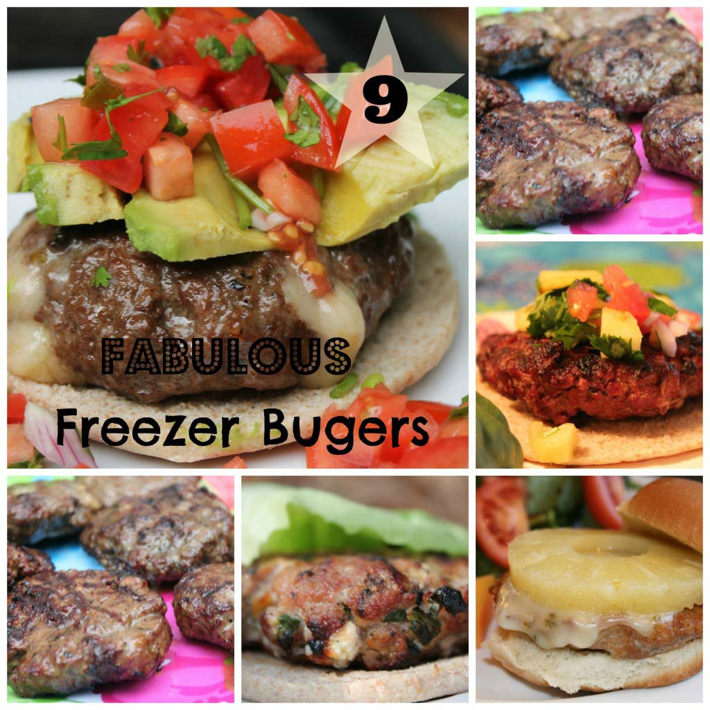 9 Fabulous Freezer Bugers {Vege options, too}