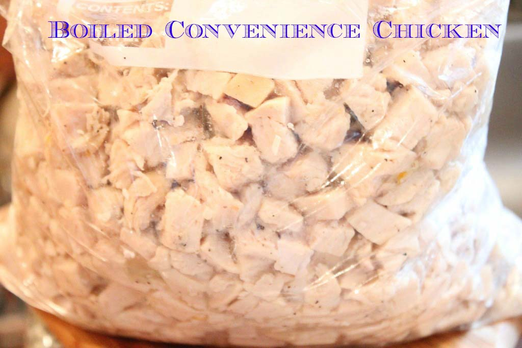 Boiled Covenience Chicken plus Broth