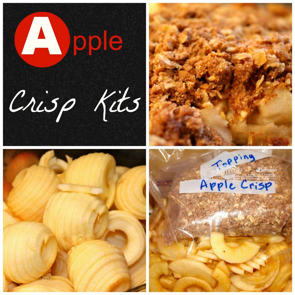 How to Make Freezer Apple Crisp Kits