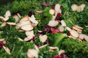 Cranberry Almond Wilted Kale