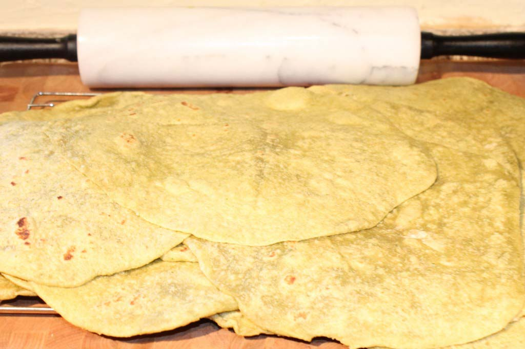 Homemade Spinach Tortillas