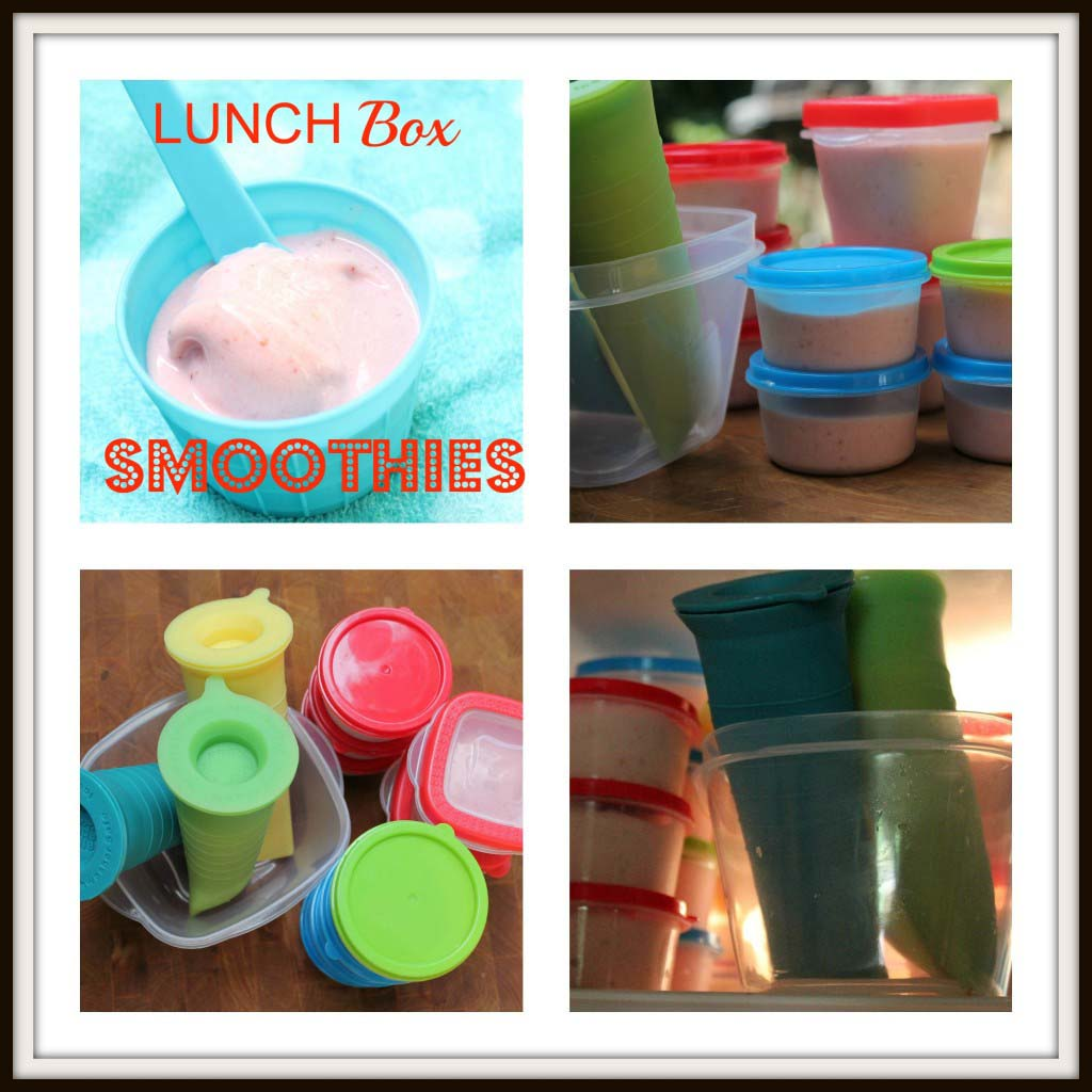 Lunch Box Freezer Smoothies {Strawberry Banana}