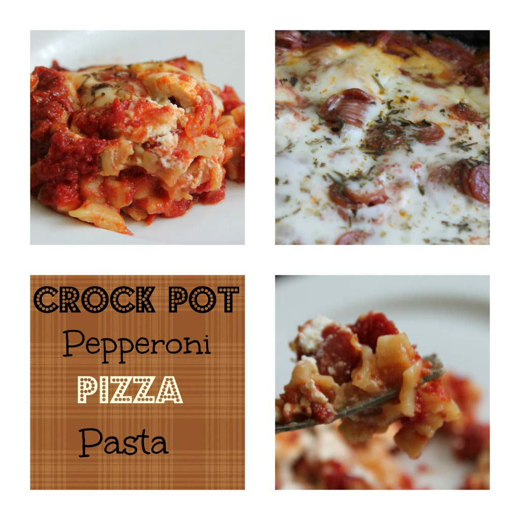 Crock Pot Pepperoni Pizza Pasta {Giveaway closed}