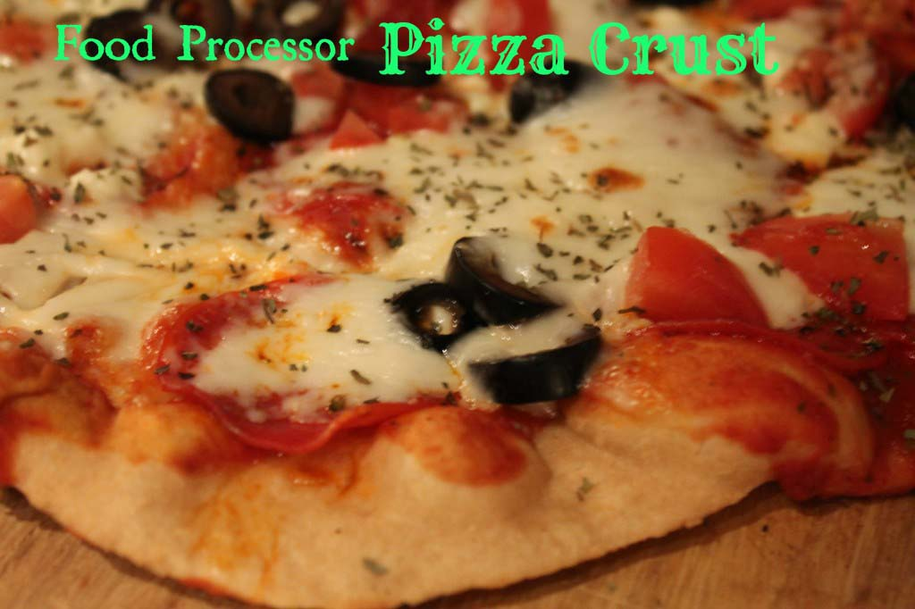 Food Processor Whole Wheat Pizza Dough {Thin Crust}
