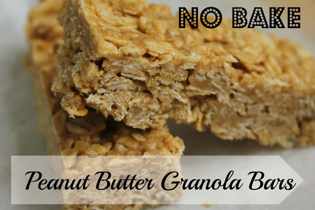 Chewy Peanut Butter Granola Bars {Microwave Prep}