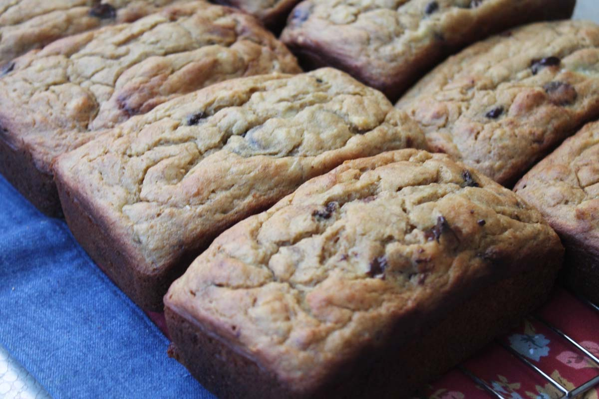 Banana Chocolate Chip Bread Made With Monk Fruit In The Raw