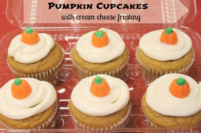 Pumpkin Cupcakes with Cream Cheese Frosting {Freezer friendly}