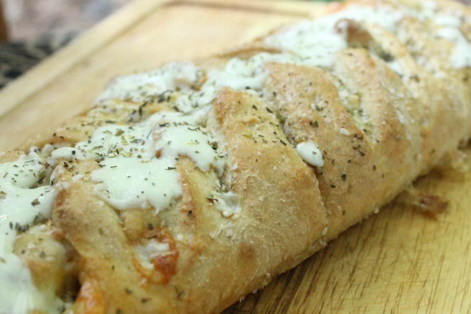 Pepperoni and Veggie Stromboli (Freezer Friendly)