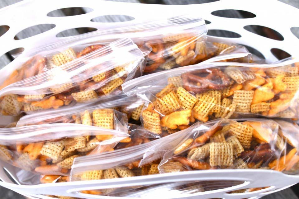 Lunch Box Snack #1: Chex Mix {Freezer Friendly}