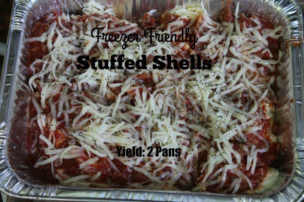 Freezer Friendly Stuffed Shells and Shoe box Bread {New Recipe}