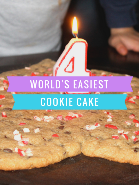 World's Easiest Cookie Cake